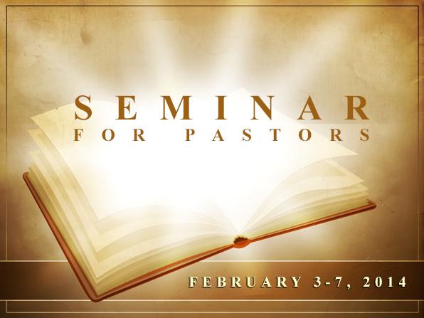 Seminar 2014 eng Seminar for pastors